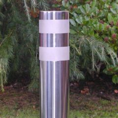 Bead Blast Bands Stainless Steel Bollard