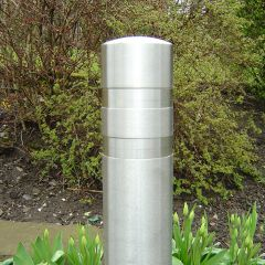 Double Recess Stainless Steel Bollard