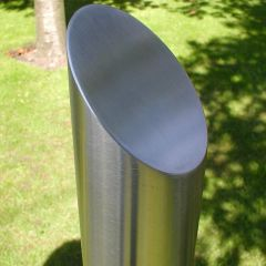 Mitred Top Stainless Steel Bollard
