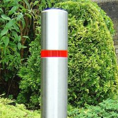 Single Groove Stainless Steel Bollard