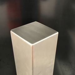 Square Flat Top Stainless Steel Bollard