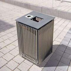 Urbanis Quadrat Steel Litter Bin