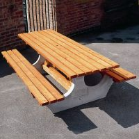 Concrete End Timber Table