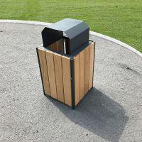 Timber & Steel Litter Bin