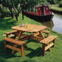 Square Timber Picnic Table