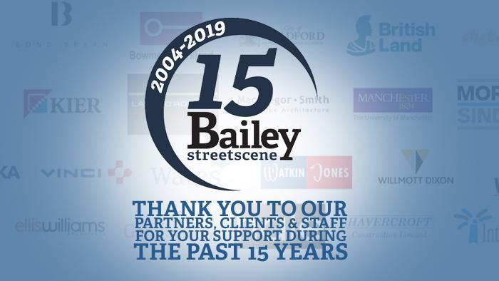 Bailey Streetscene Celebrates 15 years of Street Furniture
