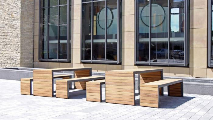 The Linares Range of outdoor tables & public seating