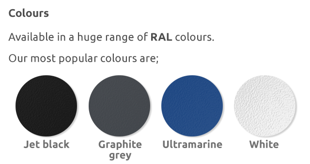 Steel RAL Colours
