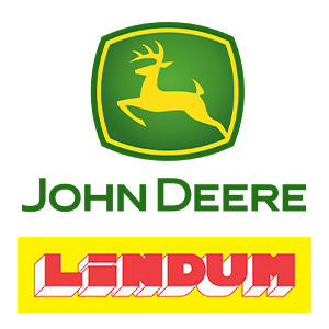 John Deere and Lindum Group Logo