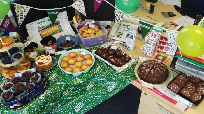 Macmillan Coffee Morning at Bailey Streetscene